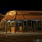 Our little shop a-glow at night. Compliments of Natural Artistry Photography.